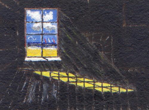 107 Beachscape- view through a window
