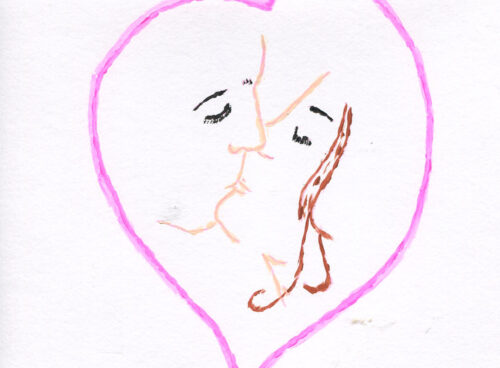 23 A lovers embrace