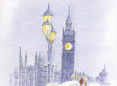 241 Big Ben in the snow