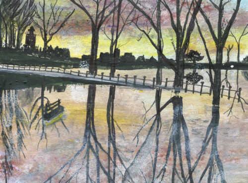 61 Sunset - flood in the park